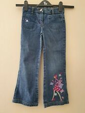 Girls Dark Blue With Shopping Design Bootcut Jeans From Next Age 5 Years