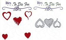 Dies... to die for metal cutting craft die Small Heart trio - Valentine's Day