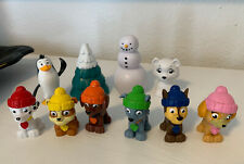 Paw Patrol Arctic Rescue Winter Figures Lot Penguin Pine Tree Polar Bear Snowman