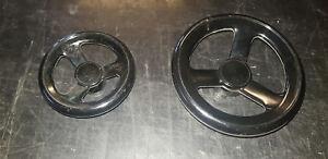 Volantino in bachelite con inserto in ferro zincato x maccchinari vari diametri