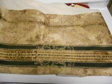 """Croscill Winslow Queen Bed Skirt-Black Gold Stripe-14"""" Drop Split Corners"""