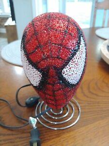 Marvel Spiderman Kids Bedroom Table Popcorn Lamp Night Light Spider Man Head