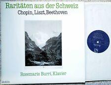 "ROSEMARIE BURRI ""Rarities from Switzerland"" Chopin, Liszt, Beethoven recital LP"