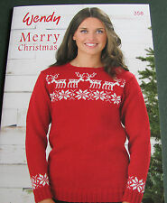 Wendy Merry Christmas pattern book 358. Great range of gifts to make and give.