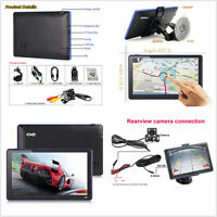 7'' Capacitive Touch Screen Car GPS Navigation Sat Nav Bluetooth & Backup Camera