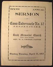 1915 Rush Memorial A.M.E. Zion Church New York Program