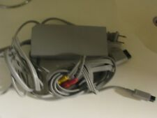 Original Genuine Nintendo Wii Power Supply Ac Adapter Cord RVL-002 & AV Cable