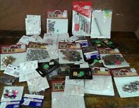 Lot of Assorted Craft Supplies Rhinestones Faux Pearls Fabric Roses Glitter Glue