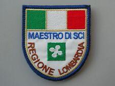PATCH MAESTRO SCI COLLEGIO REGIONE LOMBARDIA RICAMATA TERMOADESIVA CM 6,5X7,5