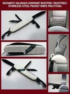 Richartz Solingen Folding Pocket Utility Tools Survival Folding Knife Pre 80s