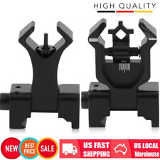 Premium Flip Up Front Rear Dual Diamond Aperture BUIS Backup Iron Sight Set HOT