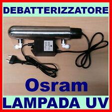 LAMPADA UV 6W G5 OSRAM DEBATTERIZZATORE PER DEPURATORE ACQUA PURIFICATORE OSMOSI