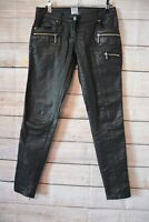 Sass & Bide The Shine Collective Jeans Size 24 Extra Small 6 8 Black Coated