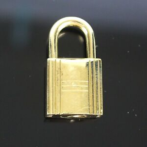 HERMES Cadena Lock Bag Charm Gold Plated No.159