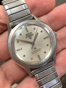Vintage 1960s Hamilton Armco USA Stainless Steel Electric Watch!!
