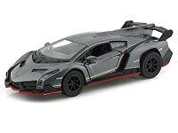 Kinsmart Lamborghini Veneno 1:36 Scale Diecast Toy Car GRAY with PULL BACK & GO