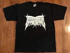 Rare FUNEBRARUM Dark Brutal Death Metal XL BLACK TSHIRT NJ Death Metal Disma