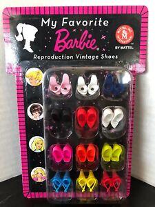 NRFP My Favorite BARBIE Reproduction Vintage SHOES Pack