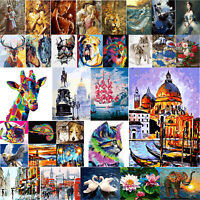 DIY Digital Oil Painting By Numbers Sun Elephant Mosaic Picture Wall Home Decor