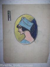 ✒ dessin BERT-ANGERE Meneuse revue MOULIN ROUGE - FOLIES BERGERES vers 1900