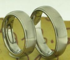 2 Ring Titanium Wedding Bands Friendship with Laser inside Engraving