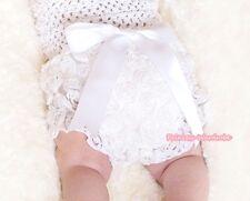 Nouveau-né romantique imprimé rose blanc pur PANTIE BLOOMER pour Pettiskirt 6m-3y