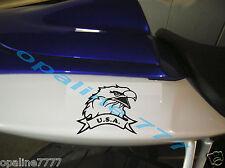 STICKER AUTOCOLLANT AIGLE USA BIKER HARLEY SUZUKI KAWASAKI HONDA YAMAHA Triumph