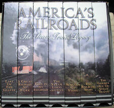 AMERICA'S RAILROADS - THE STEAM TRAIN LEGACY - 7 VHS VIDEO TAPES - BOXED SET