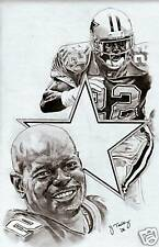 Emmitt Smith Dallas Cowboys picture poster sketch ART