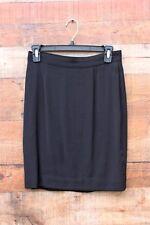 Banana Republic Classic Black Skirt Mini Size 6 Gently Used Wool Blend Italy