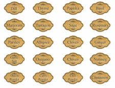 Vintage Image Primitive Spice Kitchen Pantry Labels Waterslide Decals LAB401