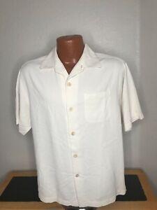 Men's Tommy Bahama S/S Button Front Hawaiian Shirt Size Medium (M) Silk