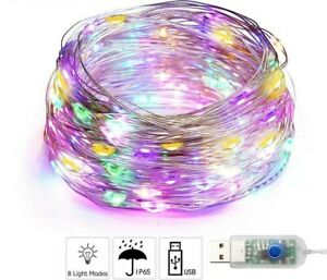 10 M LED usb Copper string fairy light Multi Color Waterproof  Strip Home Decor