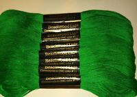 Lot of 8 Vintage Beachwood Ltd. Embroidery Cotton Floss Green