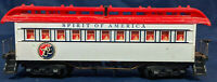 TYCO SPIRIT OF AMERICA 76. WHITE / RED COACH CAR. HO SCALE. VINTAGE
