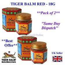 2 x ORIGINAL RED TIGER BALM FOR FAST EFFECTIVE PAIN RELIEF 18G UK SELLER - 21ml