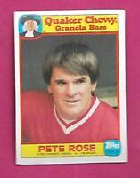 RARE 1986 REDS PETE ROSE  QUAKER CHEWY GRANOLA BARS NRMT+ CARD (INV# C0613)
