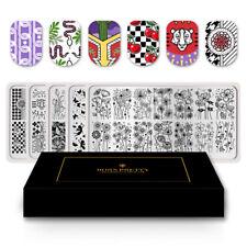 5 PCS BORN PRETTY Stamping Plates Flower Strip Mandala Nail Art Image Template