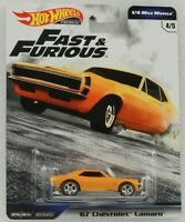 Fast and & Furious 1/4 Mile muscle Chevrolet Camaro GWB75 1:64 Hot Wheels