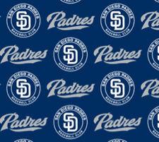San Diego Padres Blue MLB Baseball Sports Team Cotton Fabric Print by the Yard
