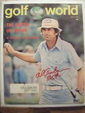 AL GEIBERGER signed Mr 59 1976 GOLF WORLD magazine AUTO Autographed RED BLUFF CA