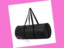 IKEA BLACK DUFFLE BAG Shopping Groceries Laundry Storage Tote ECO Bag w/ Pockets