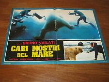 fotobusta,1977,Cari mostri del mare,BRUNO VAILATI,CARAIBI SUBACQUEO,SOMMOZZATORE