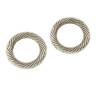 25 Ösen Binderinge Messing Biegeringe 13mm Verbinder Geschlossen Ringe BEST M122