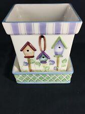 Square Ceramic Planter & Tray Decorative design