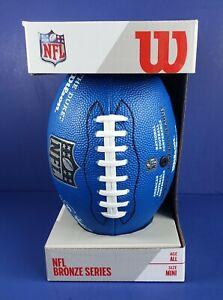 Wilson MINI NFL Replica Game Ball, Blue NEW Bronze Series T2 FREE SHIPPING