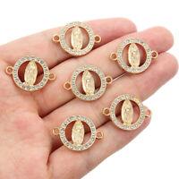 10pcs Charms Rhinestone Buddhism Buddha Statue Connectors DIY Bracelet Necklace