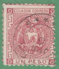 Ecuador #11 used 1P rose 1872 cv $25