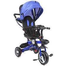 4in1 Kinderdreirad Kinderwagen Dreirad mit Schubstange Jogger bis25kg Klappbar