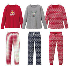 Ladies Womens Novelty Xmas Christmas PJs Pyjamas Set Size 8 10 12 14 16 18